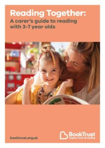Picture of front cover of Book Trust's Reading Together guide