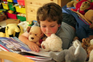 Picture of school-age child reading