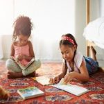 Picture of two children reading